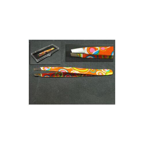 Pinzetta Estas Obliqua Inox Orange 34173
