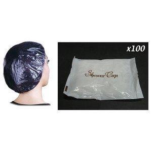 Cuffia doccia monouso trasparente 100 pezzi