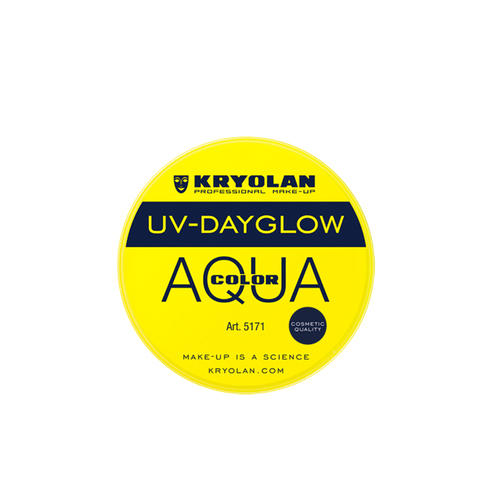 AQUA COLOR FLUO UV Day Glow Giallo Fluo Kryolan 8 ml