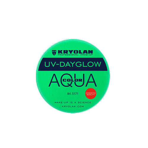 AQUA COLOR FLUO UV Day Glow Verde Fluo Kryolan 8 ml