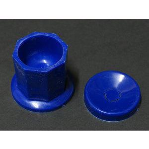 Vasetto per pulizia pennelli colore blu