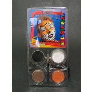 Set Profi Aqua Tiger 4 Colori+Pennello Eulenspiegel