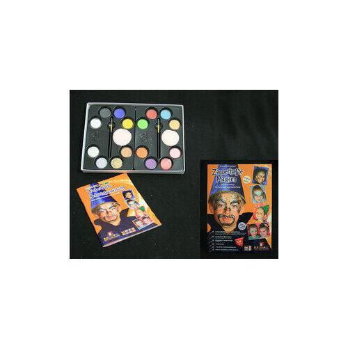 Set Profi Aqua Zauberhafte Masken 16 Colori+Pennelli+Spugnette Eulen