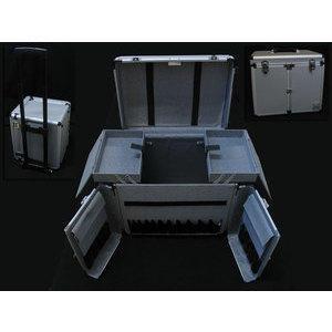 Bauletto box trolley valigia in alluminio grande I011