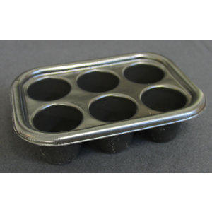 Vaschetta porta gel nera 6 posti