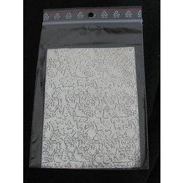 Sfoglia decoro per nail art argentata cod. QS_2993