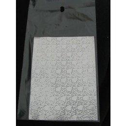 Sfoglia decoro per nail art argentata cod. QS_2996