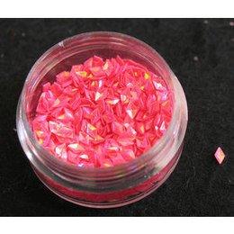 Decoro a rilievo diamante rosa fluo