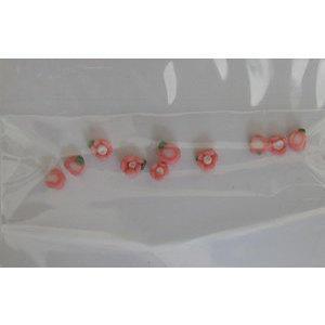Decoro per unghie roselline 3D mini rosa scuro