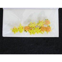 Decoro per unghie tartaruga 3D giallo e albicocca