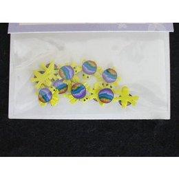 Decoro per unghie tartaruga 3D giallo e arcobaleno