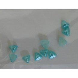 Decoro per unghie triangoli bombati acquamarina