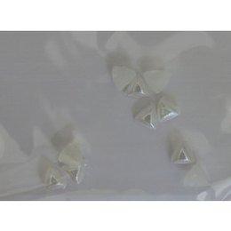 Decoro per unghie triangoli bombati bianco
