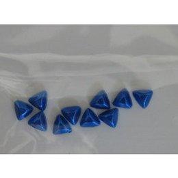 Decoro per unghie triangoli bombati blu