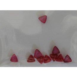 Decoro per unghie triangoli bombati rosso scuro