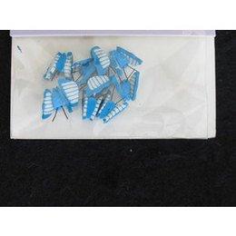Decoro per unghie farfalla 3D azzurro e bianco