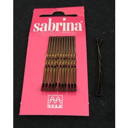 Molletta Sabrina castana display 12 pz