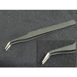 Pinzetta nera a punta sottile incurvata lunghezza 12,2 cm NZ1