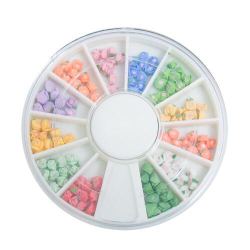 Ruota decori rose 3D colorate cod. 4832 piccola