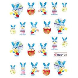 Sticker adesivi coniglietto con uova di Pasqua cod. BLE408