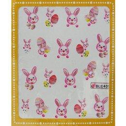 Sticker adesivi uova di Pasqua e coniglietto cod. BLE409