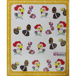 Sticker adesivi uova di Pasqua e gallo cod. BLE407