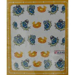 Sticker adesivi uova di Pasqua e pulcini cod. BLE401