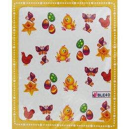 Sticker adesivi uova di Pasqua e pulcino cod. BLE406