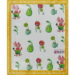 Sticker adesivi uova verdi e coniglio cod. BLE399