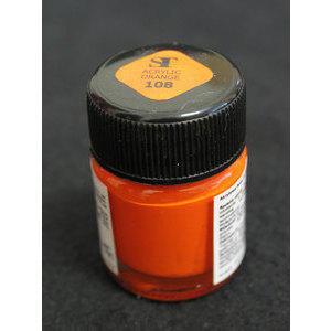 Colore Acrilico per Nail Art 15 ml One Stroke Orange 108