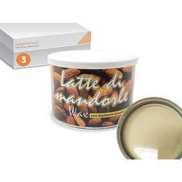 Cera epilazione liposolubile Latte Mandorle Wax 3 vasi da 400 ml cad.