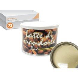 Cera epilazione liposolubile Latte Mandorle Wax 72 vasi da 400 ml cad.