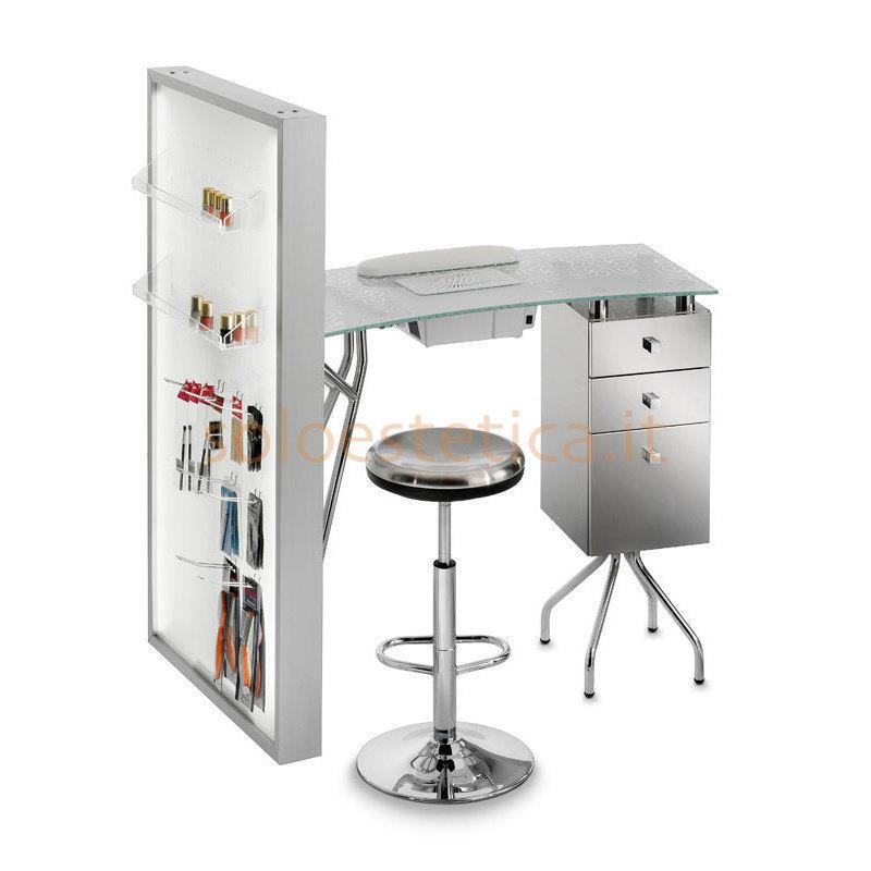 Tavolo manicure con aspiratore e display 303lxd piano in - Tavolo con aspiratore per manicure ricostruzione unghie ...