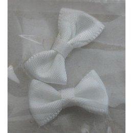 Decoro papillon di stoffa bianco