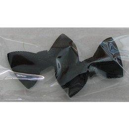 Decoro papillon di stoffa nero