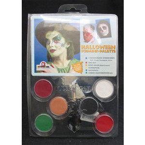 Profi Aqua Halloween Palette 5 colori con cera e pennellino cod. 450154 Eulenspiegel