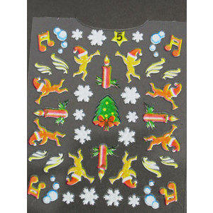 Decori 3D Natale Timi Nails cod. 5 Merry Christmas