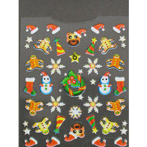 Decori 3D Natale Timi Nails cod. 6 Merry Christmas
