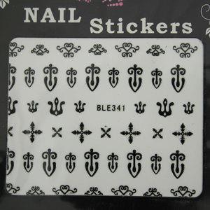 Nail Sticker BLE341 Nero