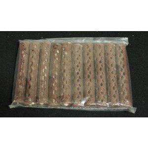 Bigodino piega plastica marrone 1° misura conf. 12 pz