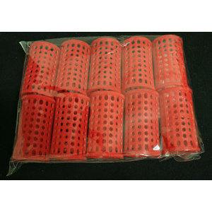 Bigodino piega plastica rosso conf. 10 pz.