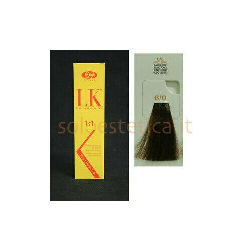 Tintura per Capelli LK Creamcolor LK OPC 6/0 Lisap 100 ml