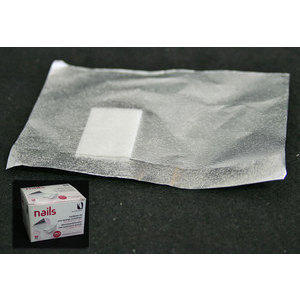 Fogli alluminio con spugna per rimozione smalto gel 50pz