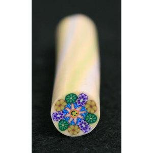 Decoro per unghie bastoncino Gimo 11 Bouquet Fiori Fondo Arancio