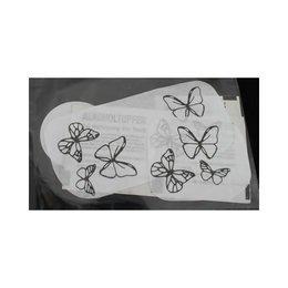 Calcomania per Tattoo Schmetterlinge Eulenspiegel