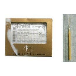 Aghi monouso elettrodepilazione oro Ballet K3 G sc. 50 pz
