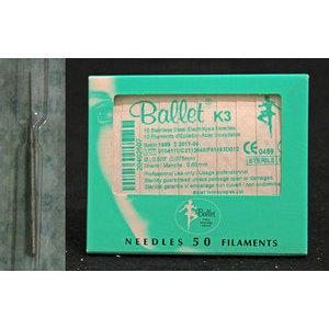 Ballet K3 INOX aghi monouso acciaio 50 pz