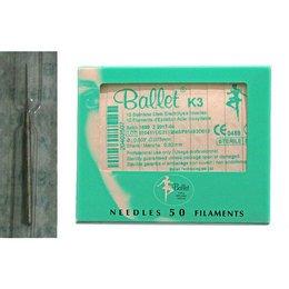 Aghi monouso elettrodepilazione acciaio Ballet K3 INOX sc. 50 pz
