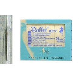 Aghi monouso elettrodepilazione acciaio Ballet K3 ISOL sc. 50 pz