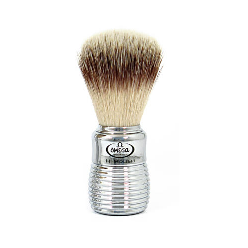 Pennello da barba in fibra sintetica HI-BRUSH Omega 46113